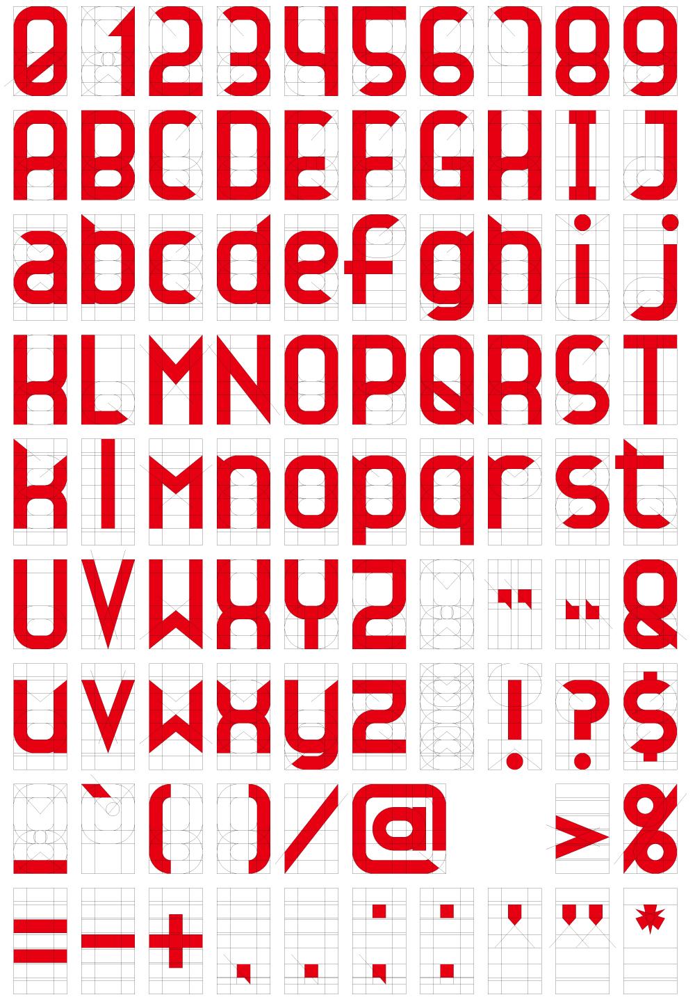自作フォントの設計図