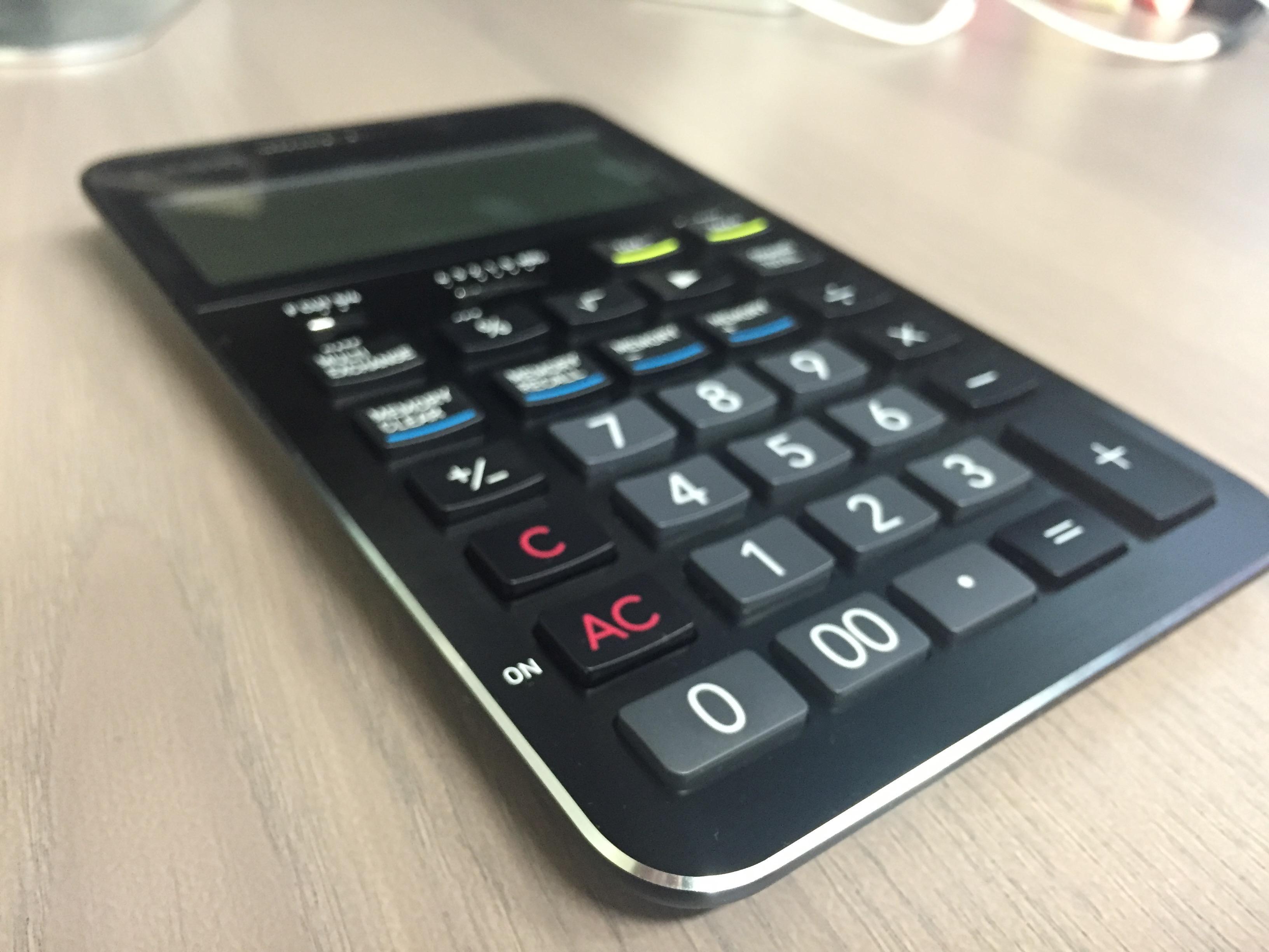 カシオの電卓、S100をプレゼントされた