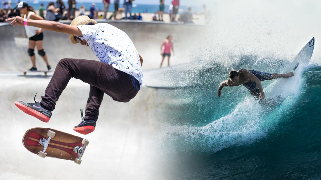 サーフィンとスケートボードの関係性