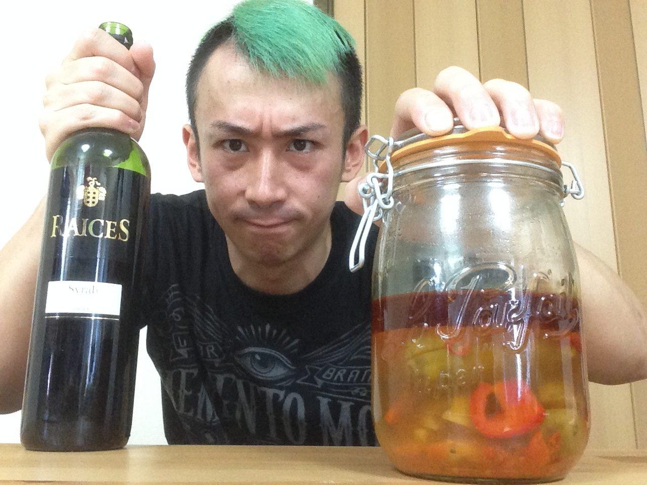 茄子漬けとワインは法律
