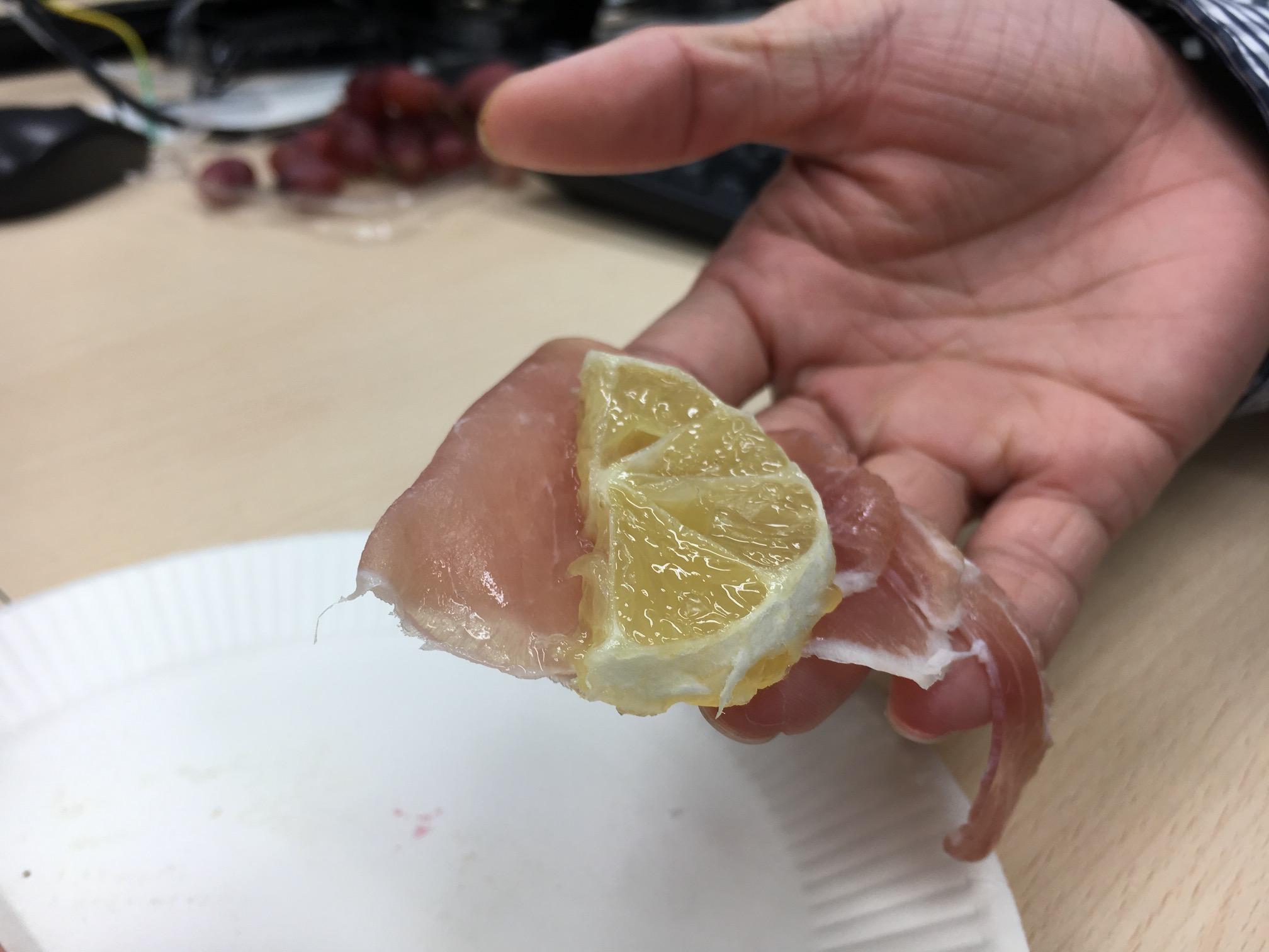 生ハムレモン