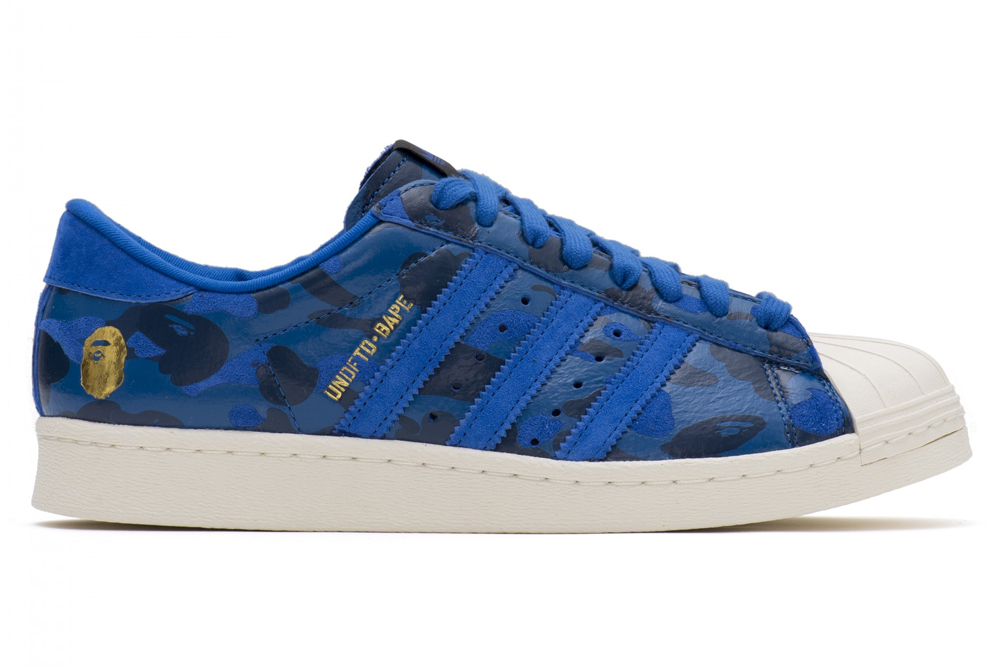 "adidas consortium Super Star 80V  × Undefeated  × A Bathing Ape ""CAMO"""