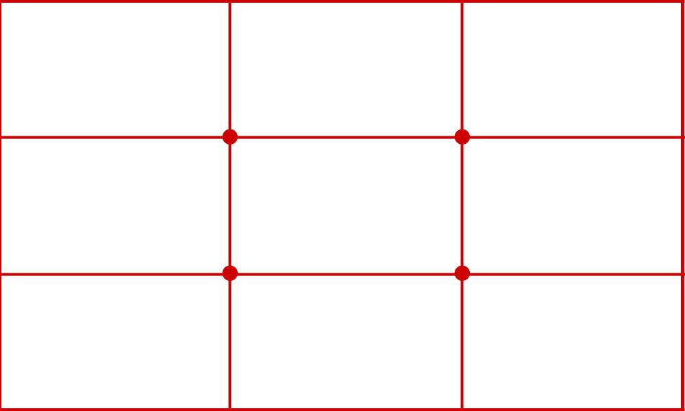 三分割構図(三分の一の法則)