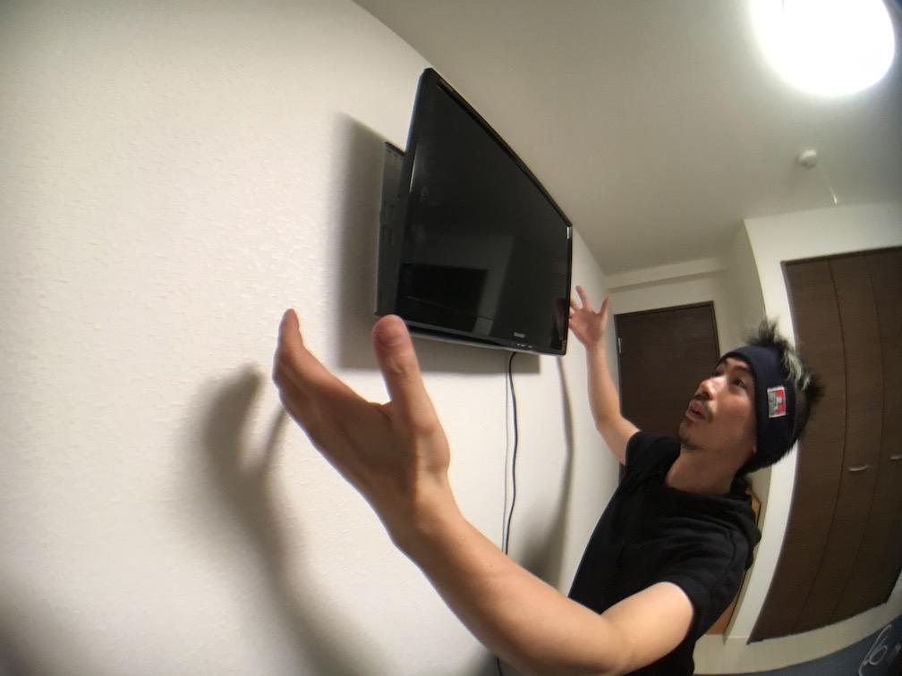 壁掛けテレビの完成!