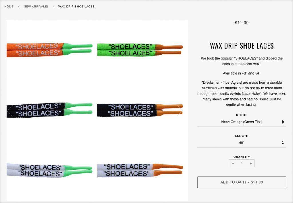 Wax Drip Shoe Laces