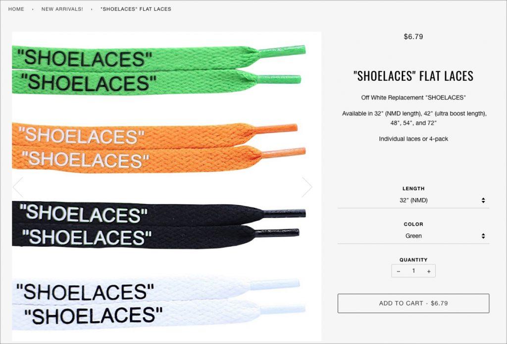 """""""SHOELACES"""" Flat Laces"""
