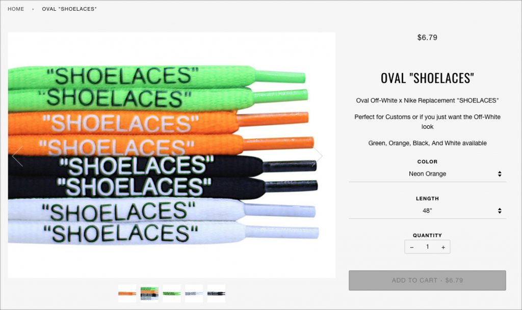 "Oval ""SHOELACES"""