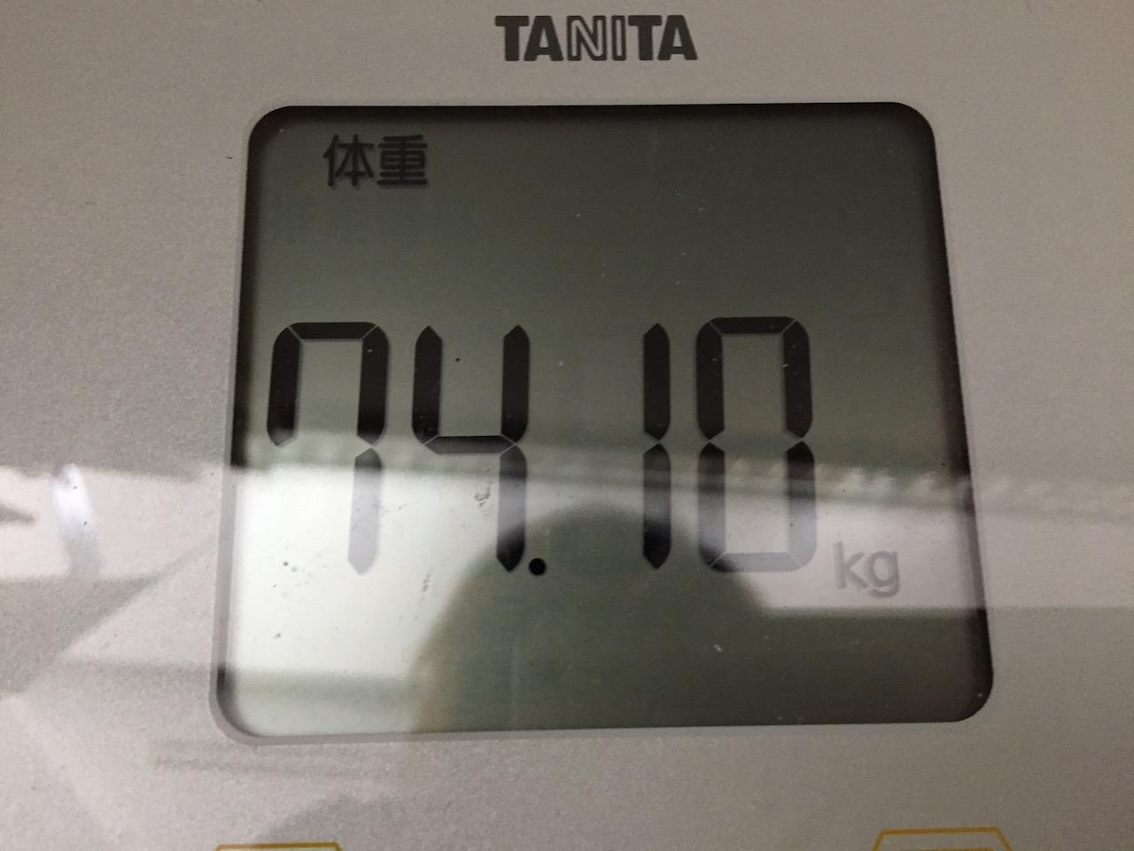 本日の体重(2018/6/27)