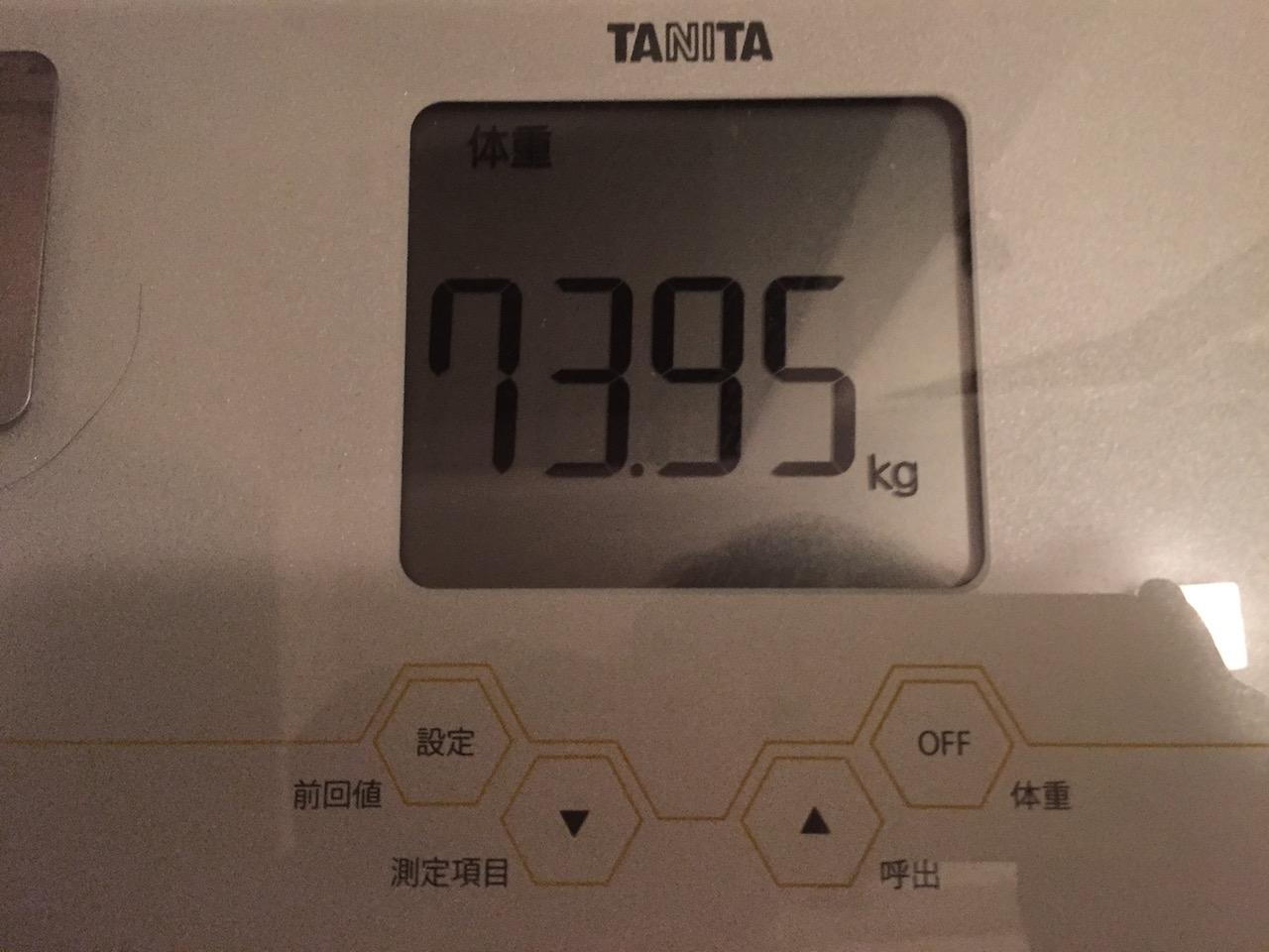本日の体重(2018/7/1)