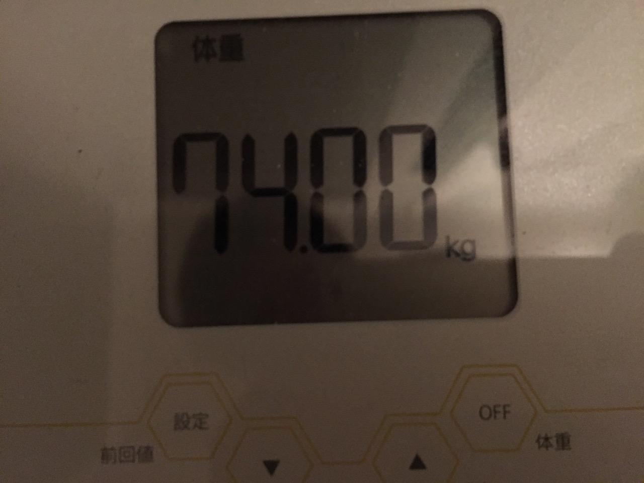本日の体重(2018/7/4)