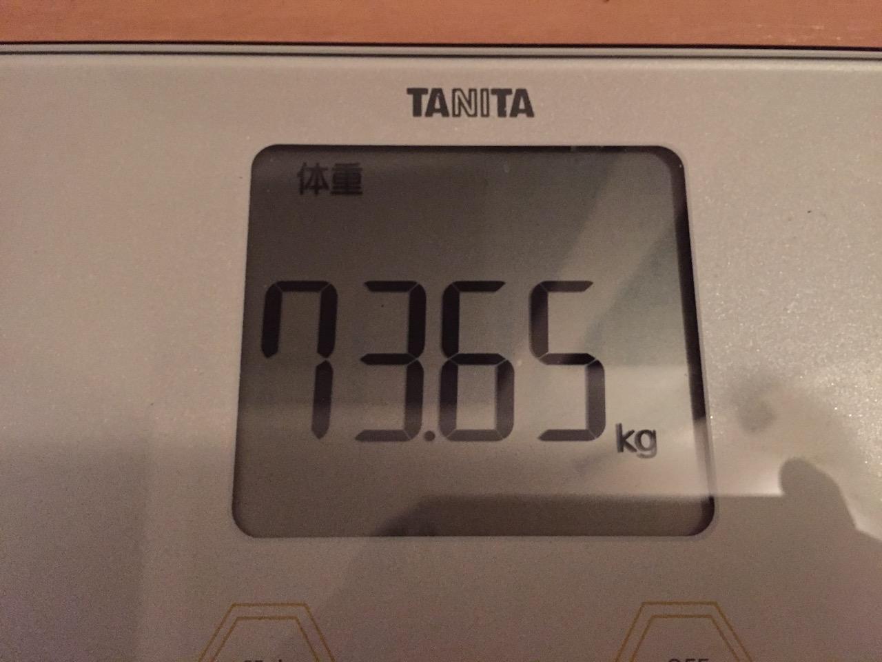 本日の体重(2018/7/7)