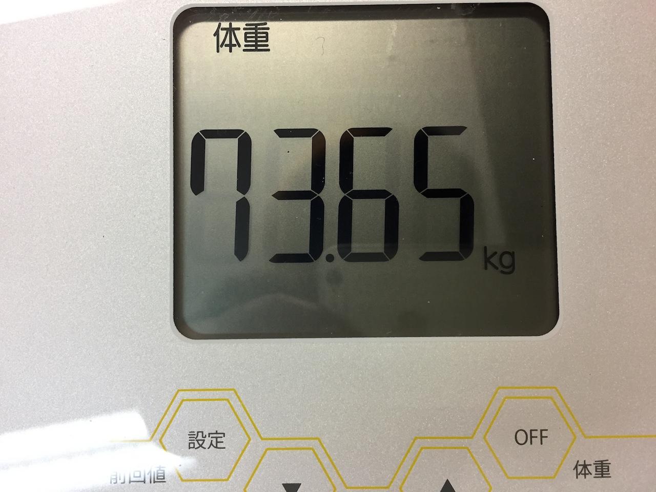 本日の体重(2018/7/9)