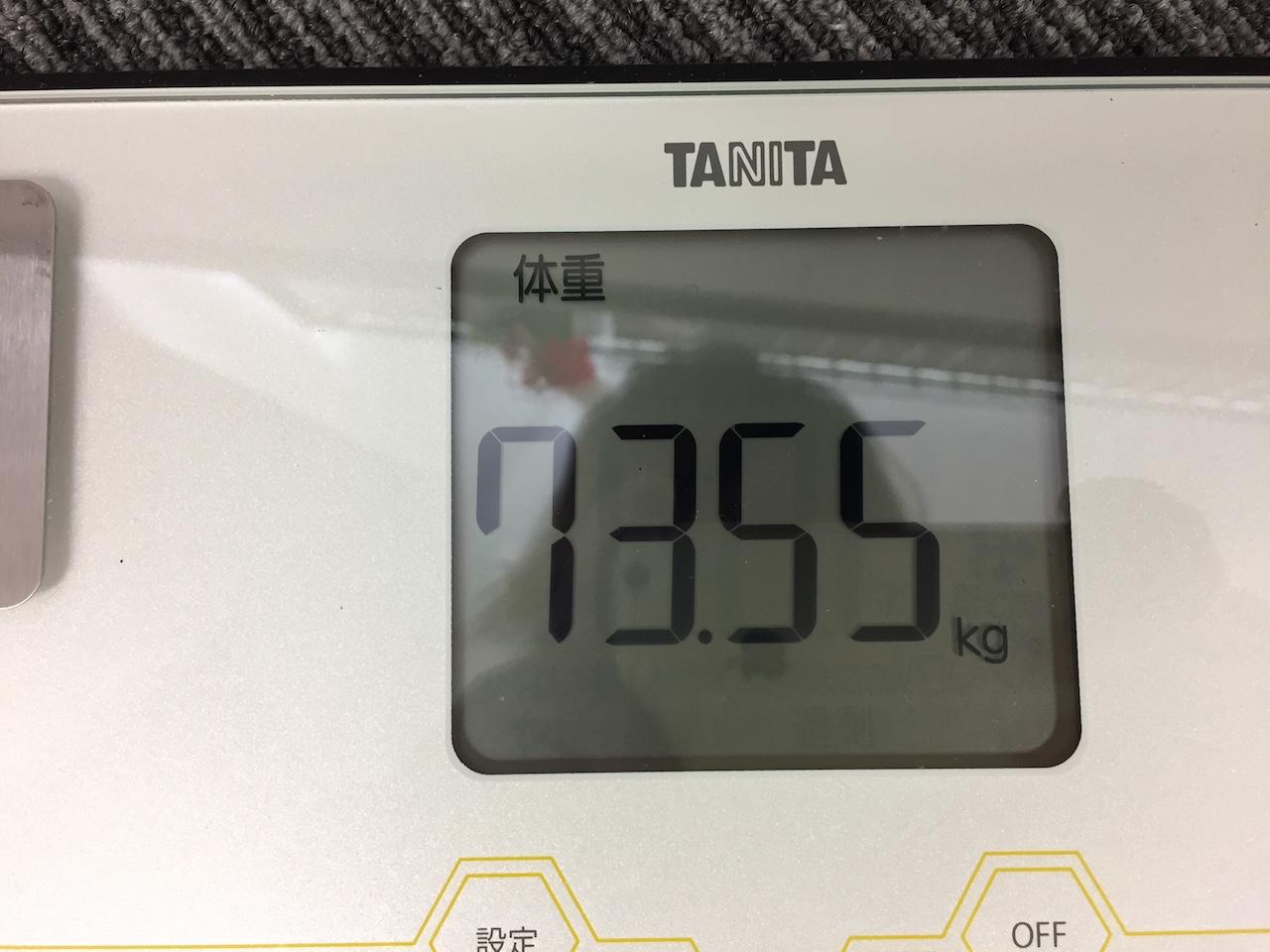 本日の体重(2018/7/10)