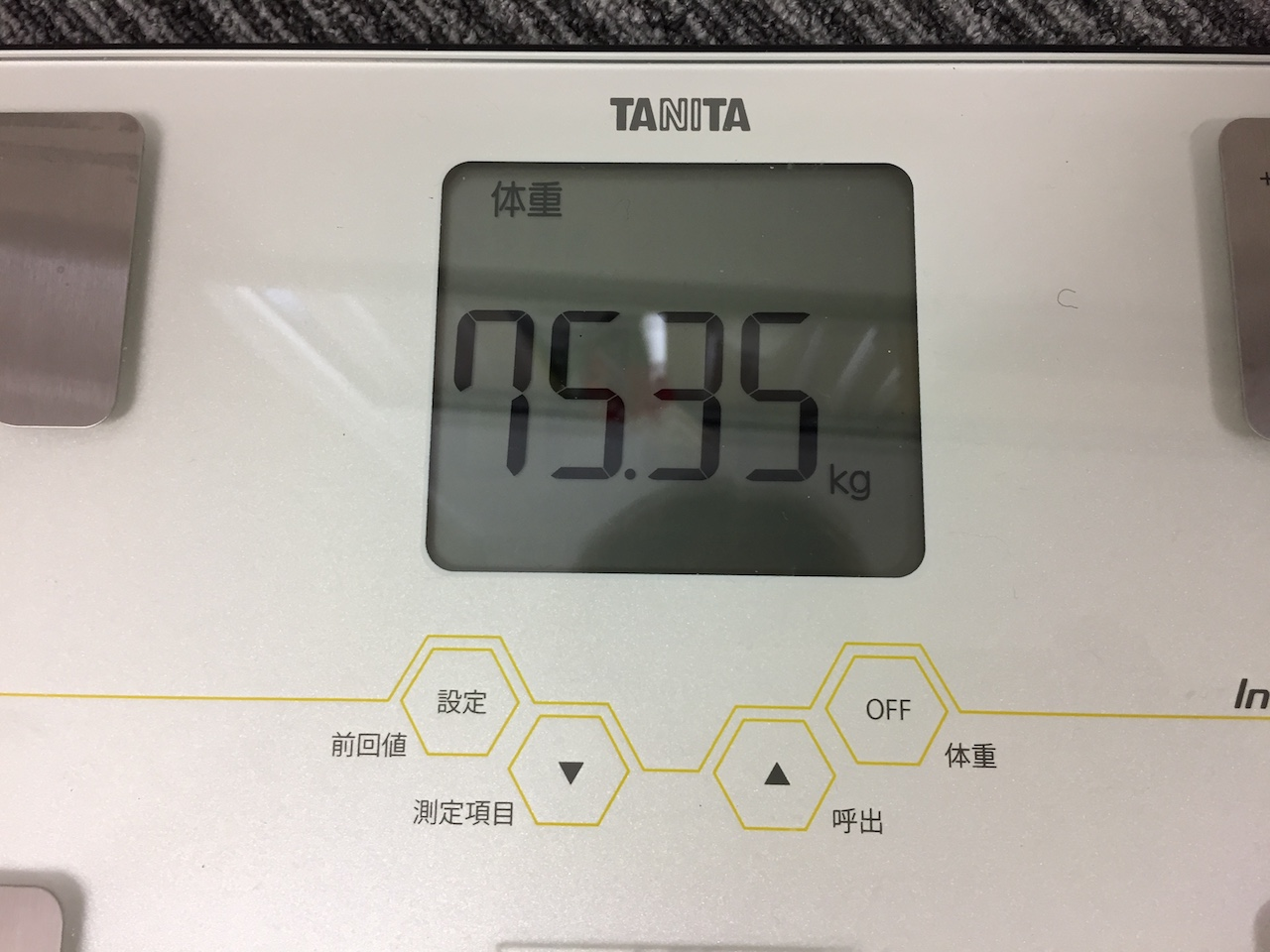 本日の体重(2018/7/18)