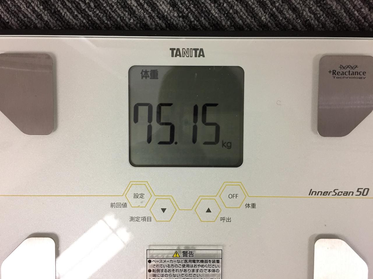 本日の体重(2018/7/19)