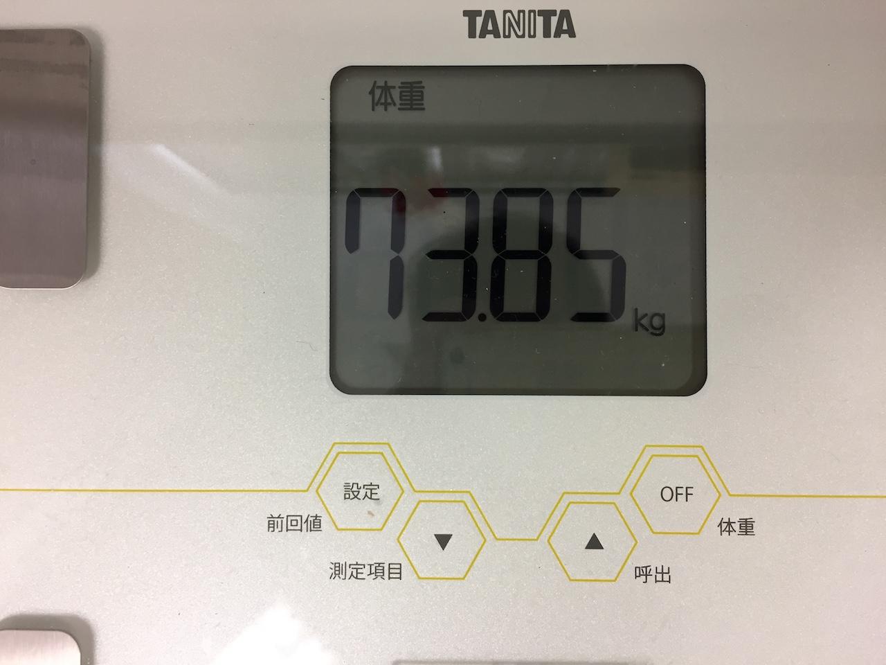 本日の体重(2018/7/25)